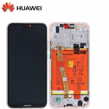 Ecran LCD et vitre tactile Assembles pour Huawei P20 Lite Rose (Service Pack)