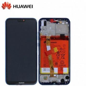 Ecran LCD et vitre tactile Assembles pour Huawei P20 Lite Bleu (Service Pack)