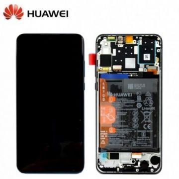 Ecran Complet Noir Pour Huawei P30 Lite (Service Pack)