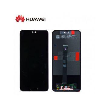Ecran Complet Noir pour Huawei P20 (Service Pack)