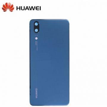 Vitre Arriere Original Bleue pour Huawei P20