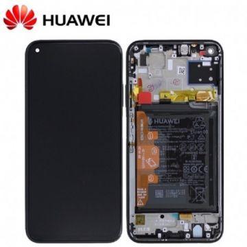 Ecran LCD et vitre tactile Assembles pour Huawei P40 Lite Noir (Service Pack)