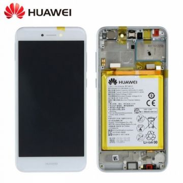 Ecran LCD et vitre tactile Assembles Blanc pour Huawei P8 Lite 2017 (Service Pack)