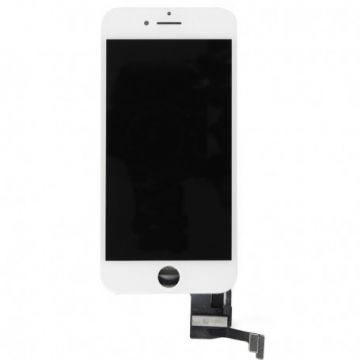 ECRAN BLANC LCD ET VITRE TACTILE ASSEMBLES IPHONE 7