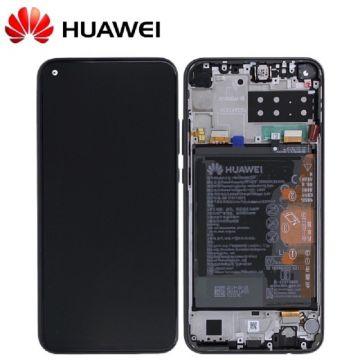 Ecran LCD et vitre tactile Assembles pour Huawei P40 Lite E Noir (Service Pack)