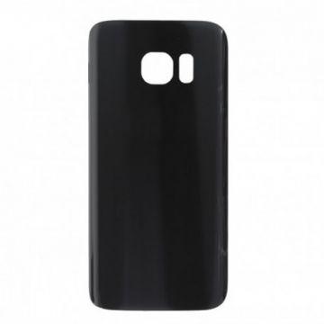 Cache Batterie Vitre Arriere Samsung Galaxy S7 Noir Sans Logo