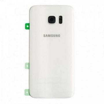 Cache Batterie Vitre Arriere Samsung Galaxy S7 Edge G935F Blanc
