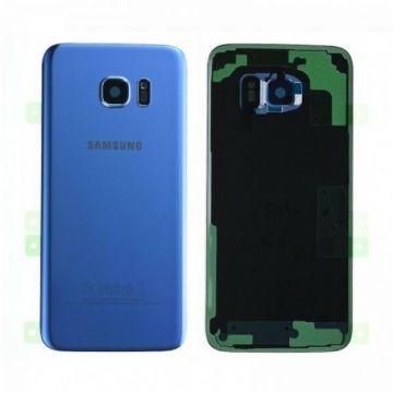Cache Batterie Vitre Arriere Samsung Galaxy S7 Bleu Turquoise