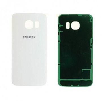 Cache Batterie Vitre Arriere pour Samsung Galaxy S6 Edge Blanc