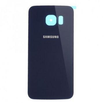 Cache Batterie Vitre Arriere pour Samsung Galaxy S6 Edge Bleu