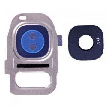Lentille Support Camera Arriere pour Samsung Galaxy S7 et S7 Edge Rose