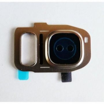 Lentille Support Camera Arriere pour Samsung Galaxy S7 G930F / S7 Edge G935F Gold