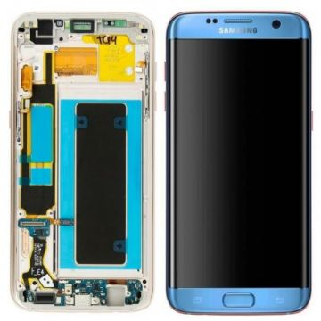 Ecran Complet LCD+Tactile+Chässis pour Samsung Galaxy S7 Edge G935F Bleu