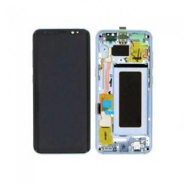 Ecran Complet LCD+Tactile+Chässis pour Samsung Galaxy S8 G950F Bleu