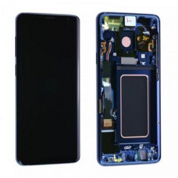 Ecran Complet LCD+Tactile+Chässis Samsung Galaxy S9 Plus G965F Bleu